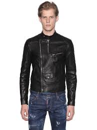 dsquared2 grained leather biker jacket black otaw0 men clothing dsquared shoes where can