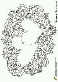 colouring for s heart mandala coloring pages