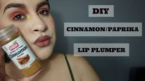 diy cinnamon paprika lip plumper
