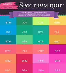 Colorchart Brights_1 Spectrum Noir Colouring System From
