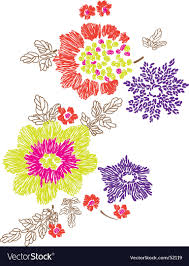 Floral Embroidery Designs Vector Floral Embroidery Design