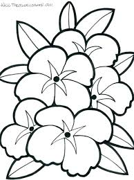 Easy Coloring Pages Flowers Flower Color Printable Simple Free
