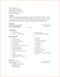 Resume For Dental Assistant Job Resume Dental assistant Skills Danayaus 73