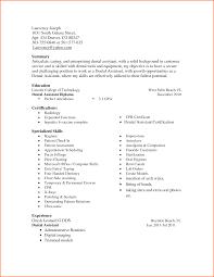 Resume For Dental Assistant Job Resume Dental assistant Skills Danayaus 73