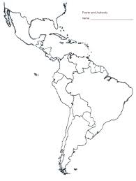 Latin America Outline Maps Map Outline Of South Latin And America Blank Efcopower Info