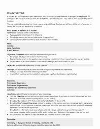 General Resume Objectives Statements Inspirational Nursing Resume