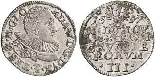 Adam Wenzel, 1579-1617. 3 Kreuzer (Groschen) 1597. F. u. S. 2988.