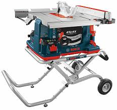 bosch table saw stand. 10 inch reaxx jobsite table saw with gravity-rise wheeled stand bosch 0