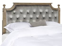 Rustic Wood Grey Tufted Velvet Headboard
