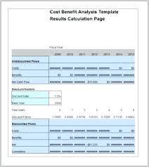 Cost Analysis Example Value Analysis Calculator For Excel 2 Cost Template Benefit Examples