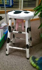 i have a stool like this my late friend myra Fischer saw in a shop and said  I HAD to have it and she b… | Cow decor, Woodworking projects, Awesome  woodworking