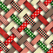 Christmas Pattern Background Fascinating Seamless Christmas Background In Patchwork Style Interweaving
