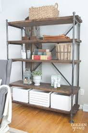 absolutely diy pipe bookshelf 14 best bedroom image on and industrial shelving unit the golden sycamore aaron we need to make one of cost copper