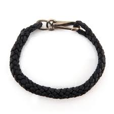 men s gucci sterling silver and braided leather bracelet by kodner galleries 730653 bidsquare