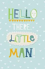 Amazon Com Hello There Little Man Birth Congrats New Baby