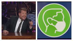 James corden is an english actor, writer, producer, comedian, and television host. Bc Ferries Viral Mask Signs Featured By The Late Late Show With James Corden Vancouver Is Awesome