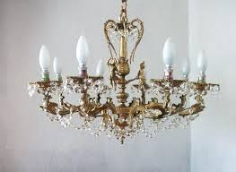 8 light crystal chandelier brass rococo 8 lights crystal chandelier century roesler 8 light crystal chandelier