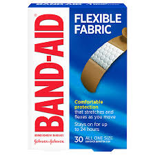 Band Aid Size Chart Band Aid Flexible Fabric Adhesive Bandages All One Size 3 4 Inch