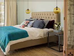 Architektur Hängeleuchten Schlafzimmer Kleines Akzentwand Schwarz