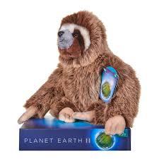 bbc planet earth ii 25cm sloth soft toy posh paws