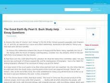 the good earth essay questions th th grade interactive  the good earth essay questions interactive