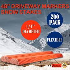 200 pack 48 long driveway markers snow plow stakes poles fiberglass flexible