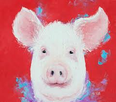 pig art for kitchen decor or nursery decor fineartamerica com