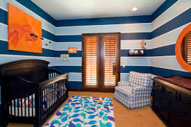 jungle themed furniture. Jungle Themed Toddler Room For Your Child Room: Striped Walls With Dark Crib And Modern Furniture E