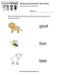 Kids. worksheets for kindergarten reading: Reading Comprehension ...