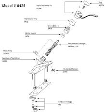 moen kitchen faucet parts diagram manificent beautiful moen single handle kitchen faucet repair inside
