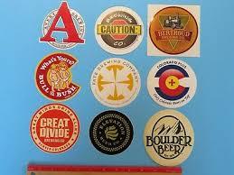 9 BEER STICKERS ~ Great Divide,Berthoud,Avery,Bull &  Bush,Elevation,Boulder,Fate   eBay