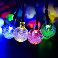 outdoor lighting balls. 50led String Lights Fairy Lights, Crystal Ball Solar Powered Outdoor Lighting Lamp Decoration For Garden Fence Path Christmas-in Strings From Balls L