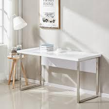chrome office desk. Sydney Office Desk In High Gloss White And Chrome Frame_2 I
