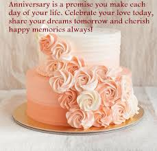 Happy 1st Wedding Anniversary Cake With Your Name 2 Tier