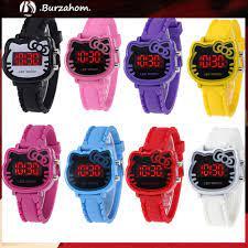 Đồng Hồ Đeo Tay Kỹ Thuật Số Hello Kitty Có Đèn Led Dễ Thương Cho Bé - Đồng  hồ thông minh