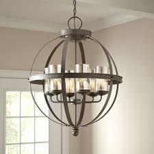 globe lighting chandelier. Cool Bronze Globe Chandelier For Interior Lighting Decor: Dark With 6 Light V