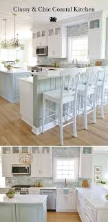 coastal kitchen makeover the reveal sisal backdrops and kitchens white decor simple classic cabinets chef sink countertop ideas with cupboards grey floor