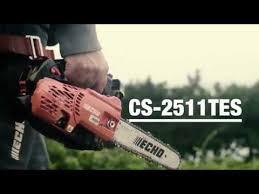 Обзор <b>бензопилы ECHO CS 2511TES</b> - YouTube