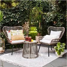 latigo 3pc rattan patio set