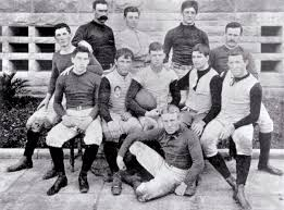 fresh recruits stanford s first big game squad faced cal in san francisco in 1892 john whittemore holding ball who was the student president