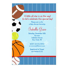 15 Best Sports Themed Invitations Images On Pinterest  Trading Baby Shower Invitations Sports Theme