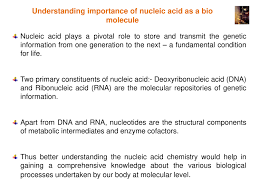 Functions Of Nucleic Acids Nucleic Acid Structure Powerpoint Slides