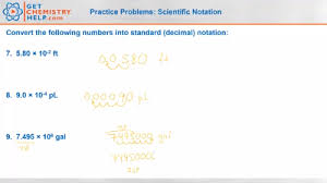 chemistry practice problems scientific notation get chemistry help