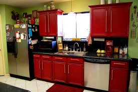Red Lacquer Kitchen Cabinets Bathroom Glamorous Glamour Red Kitchen Cabinets The Inspiration