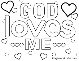 Coloring Pages Coloring Pages Jesus Loves Me Page Preschool Free