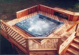 hot tub deck. Hot Tub Deck