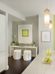 modern white console table. Apple Green Accessories On A Modern White Console Table With Stools Ensure This Foyer Is S