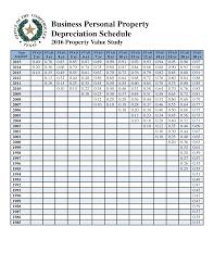 Business Schedule Template Business Depreciation Schedule Templates At