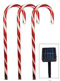 Green Candy Cane Pathway Lights 5 Red Led Candy Cane Solar Stake Light 54cm Christmas