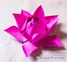 Paper Lotus Flower Lotus Flower Dreamyposy Templates